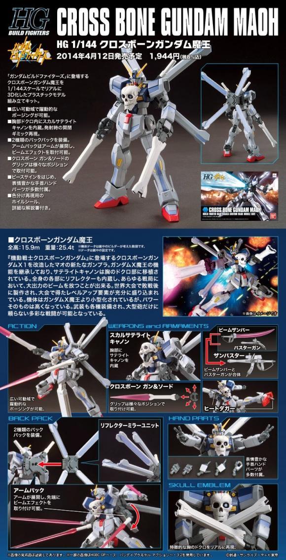 [014] HGBF 1/144 Crossbone Gundam Maoh