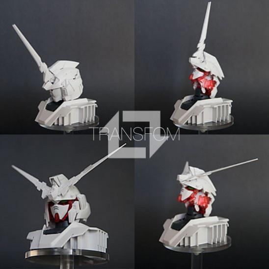 LIMITED HGUC 1 144 RX 0 Unicorn Gundam Destroy Mode 48 Head Display Base