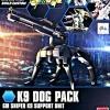 [009] HGBC 1/144 K9 Dog Pack