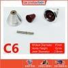 [Metal Part] Metal Thruster / Vents for Gundam Kit (C6, Red) (2 Units)