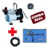 [HSENG] AF-18-2 Mini Airbrush Compressor with HS-29 Dual Action Top Gravity Feed Airbrush