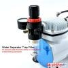 [HSENG] AF-18-2 Mini Airbrush Compressor [Free 20 pcs Alligator Clips]
