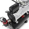 [HSENG] AF-186 Mini Airbrush Compressor with HS-29 Dual Action Top Gravity Feed Airbrush [Free 20 pcs Alligator Clips]