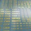 [Da Lin] Number Symbol Water Decal (Bronzing Gold Color Coating)
