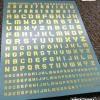 [Da Lin] Alphabet Symbol Water Decal (Bronzing Gold Color Coating)