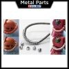 [Metal Part] 3mm S Energy Cable Tubes Pipes Metal Parts (Silver)