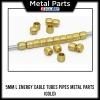 [Metal Part] Energy Cable Tubes Pipes Metal Parts (L Size, 5mm, Gold)