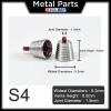 [Metal Part] Metal Thruster / Vents for Gundam Kit (S4, Silver, Red) (2 Units)