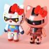 Tamashii Chogokin Gundam and Char\'s Zaku II Hello Kitty